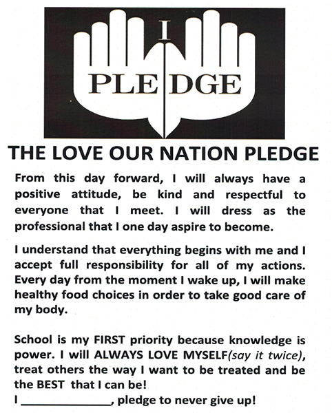 The Love Our Nation Pledge